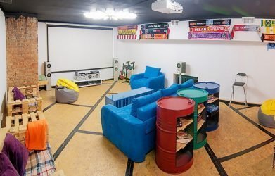 make a garage in a comfortable place